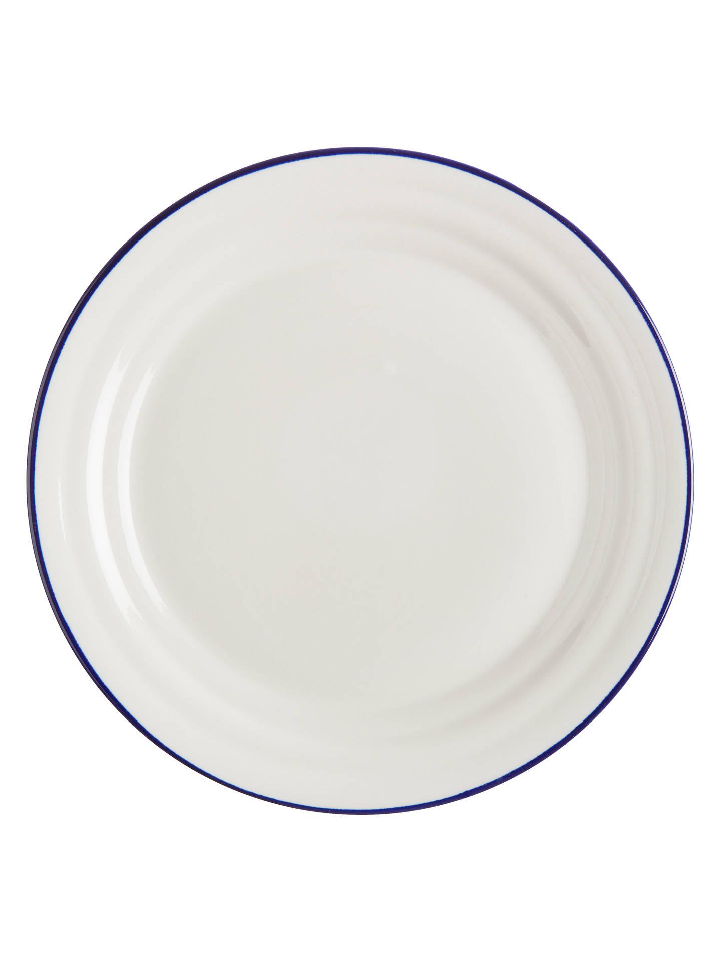 john lewis partners harbour blue rim dinner plate white blue dia