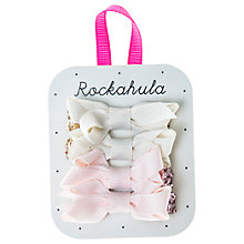 Buy Rockahula Girls' Glitter Bow Hair Clip, Pack of 4, Ivory/Pink Online at johnlewis.com