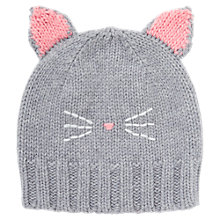 Buy Jigsaw Children's Knitted Cat Hat, Grey Online at johnlewis.com