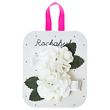 Buy Rockahula Girls' Spring Flower Hair Clip, Pack of 2, Ivory Online at johnlewis.com
