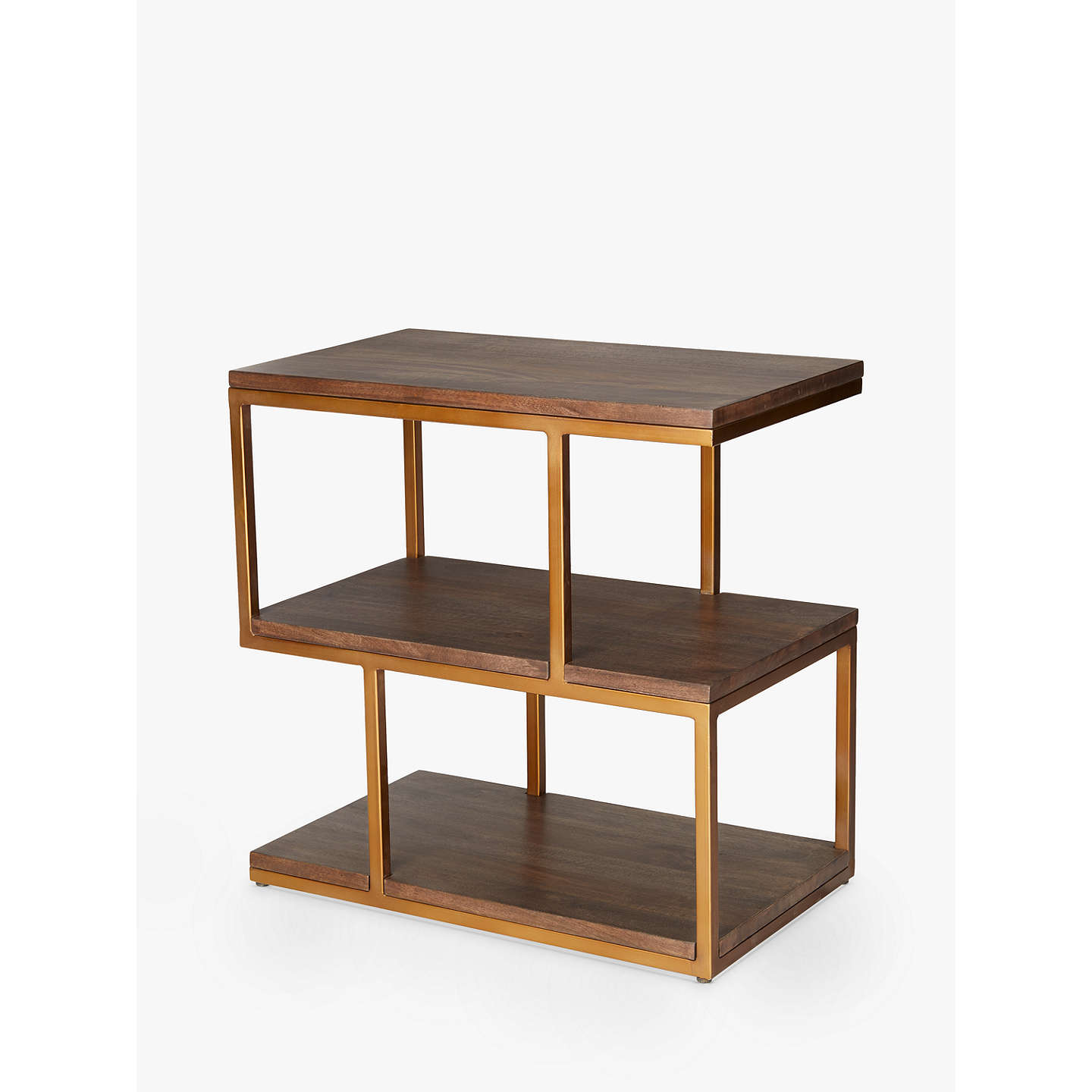 Content By Terence Conran Metal Balance Side Table Brown At Johnlewis Com
