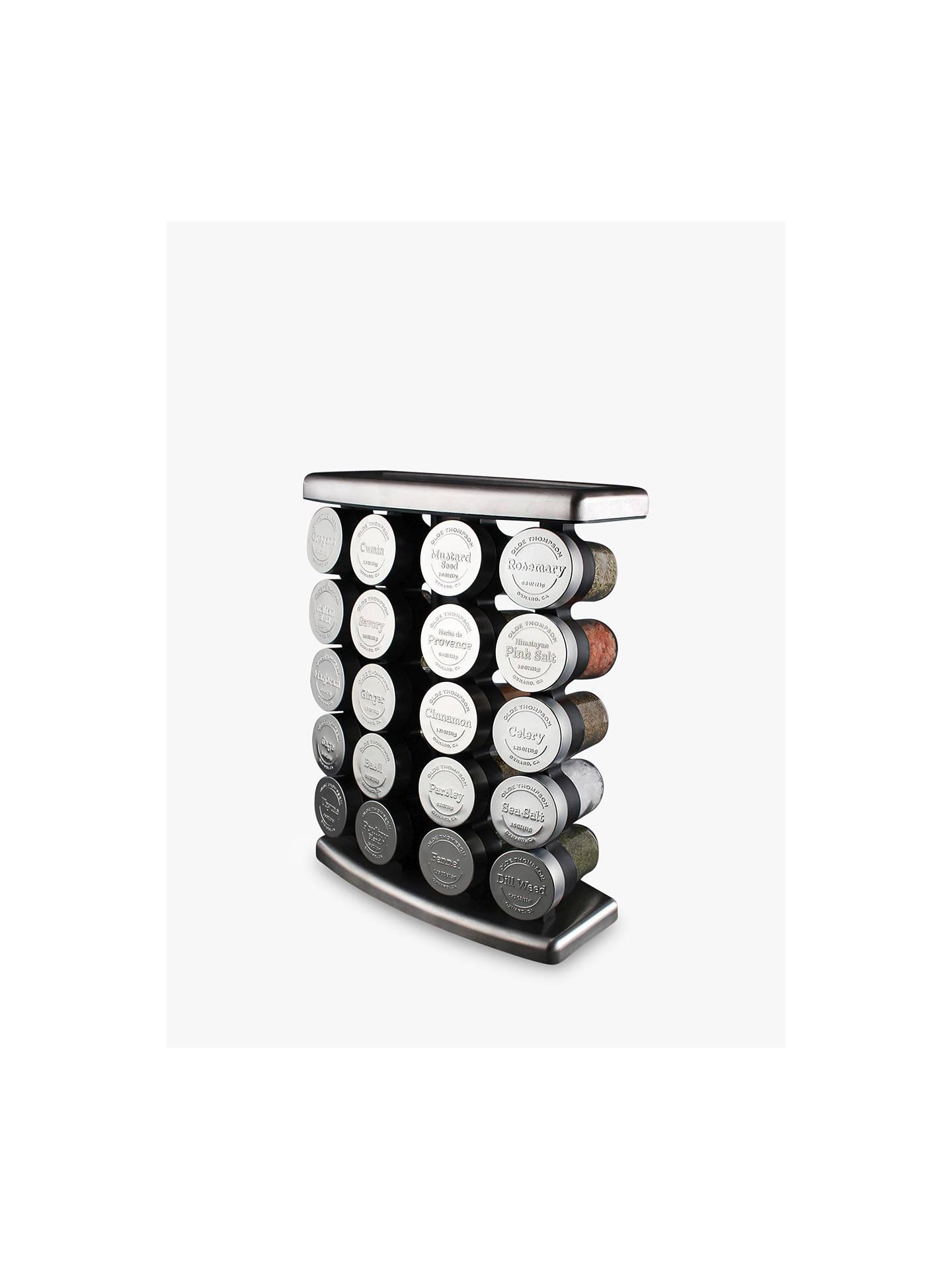 Buyolde thompson 20 jar embossed stainless steel spice rack online at johnlewis com