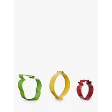 Buy John Lewis Five-A-Day Stainless Steel Cookie Cutters, Assorted, Set of 3 Online at johnlewis.com