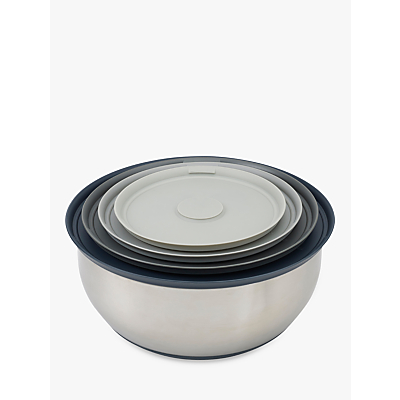 Image of Joseph Joseph 100 Collection Stainless Steel Mixing Bowls Nest Set, 4 Pieces