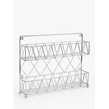 Buy John Lewis 2 Tier Empty Spice Rack, Chrome Online at johnlewis.com