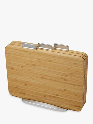 Joseph Joseph Bamboo Index Chopping Board Set, Natural