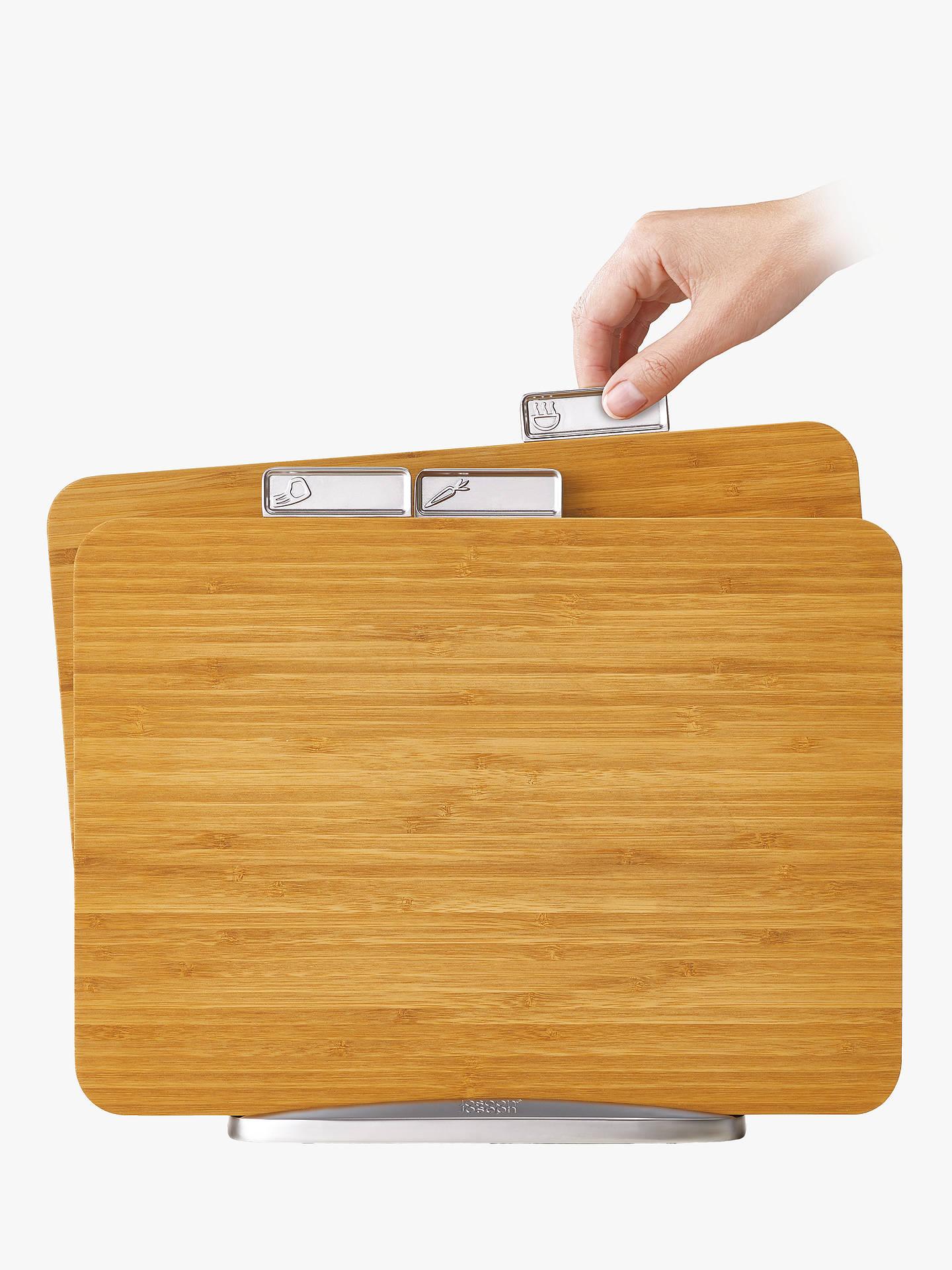 joseph joseph bamboo index chopping board set natural at. Black Bedroom Furniture Sets. Home Design Ideas