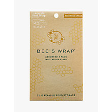 Buy Eddington Bee's Wrap Honeycomb Reusable Sandwich Wraps, Assorted, Pack of 3 Online at johnlewis.com