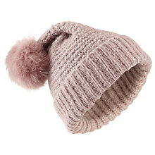 Buy Miss Selfridge Sparkle Knit Hat, Pink Online at johnlewis.com