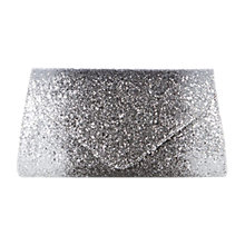 Buy Coast Myra Glitter Clutch Bag, Silver Online at johnlewis.com