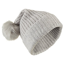 Buy Miss Selfridge Embellished Rib Hat, Grey Online at johnlewis.com
