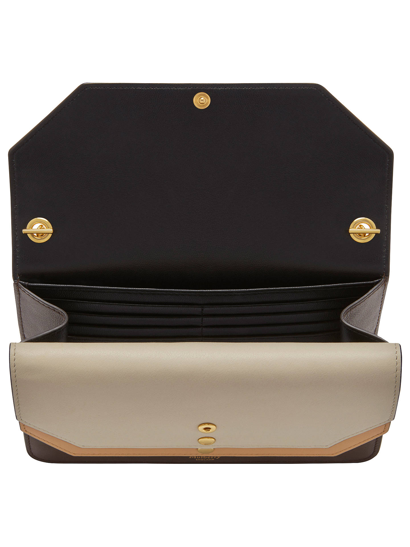 37af105fabb Buy Mulberry Multi-Flap Smooth Calf Leather Clutch Bag, Multi Online at  johnlewis.