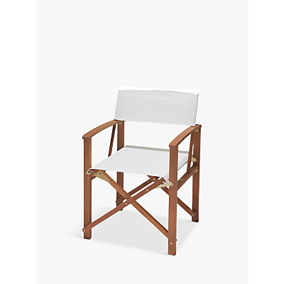 House by John Lewis Garden Directors Chair, FSC-Certified (Eucalyptus), Cream