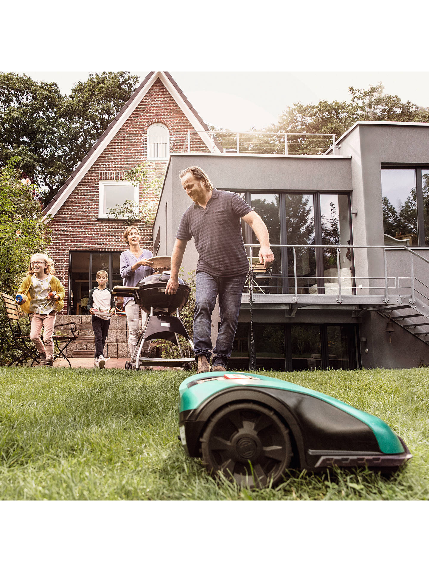 Buy Bosch Indego 350 Connect Robotic Lawnmower Online at johnlewis.com