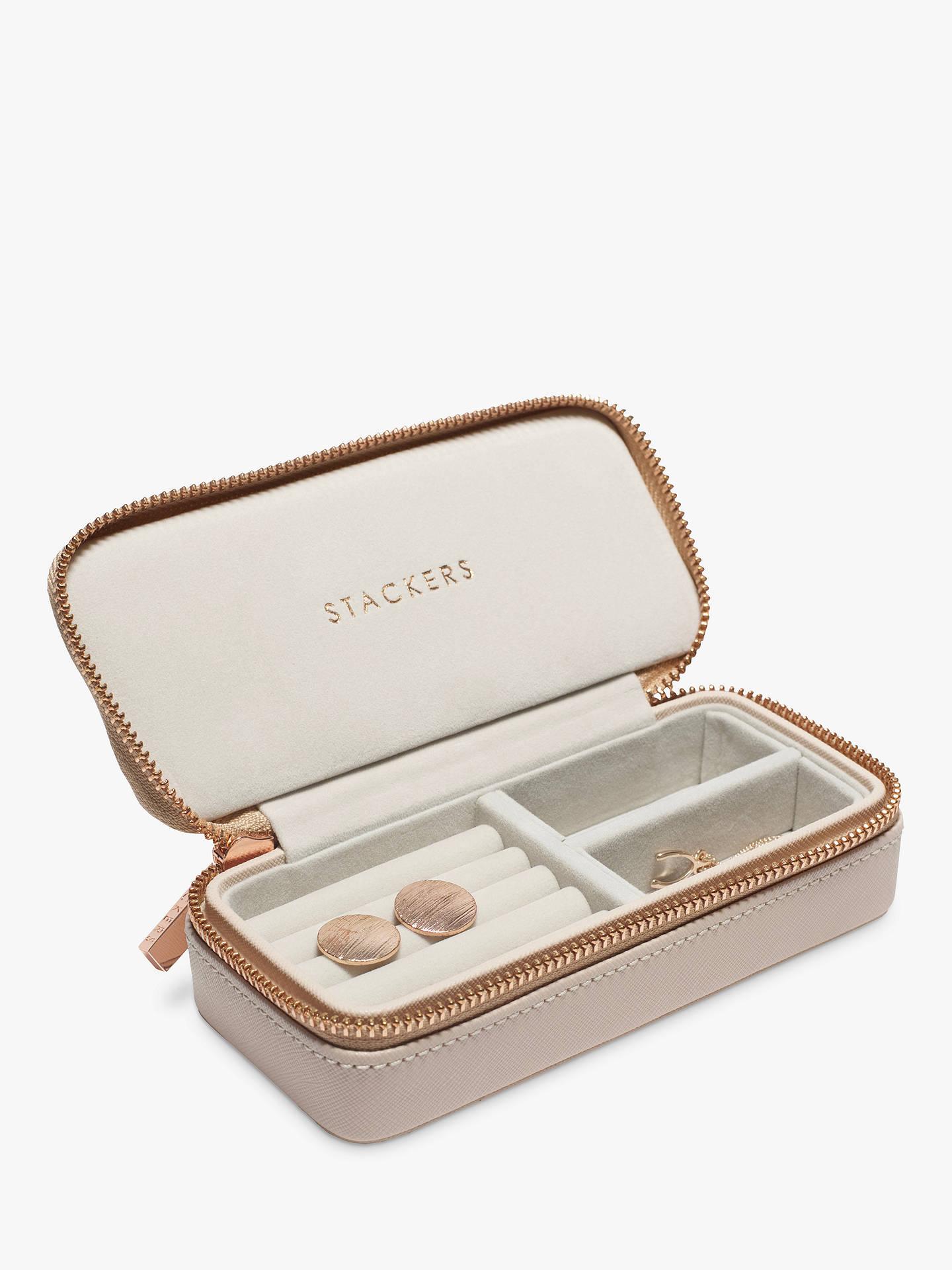 Stackers Overnight Travel Jewellery Box Blush Pink