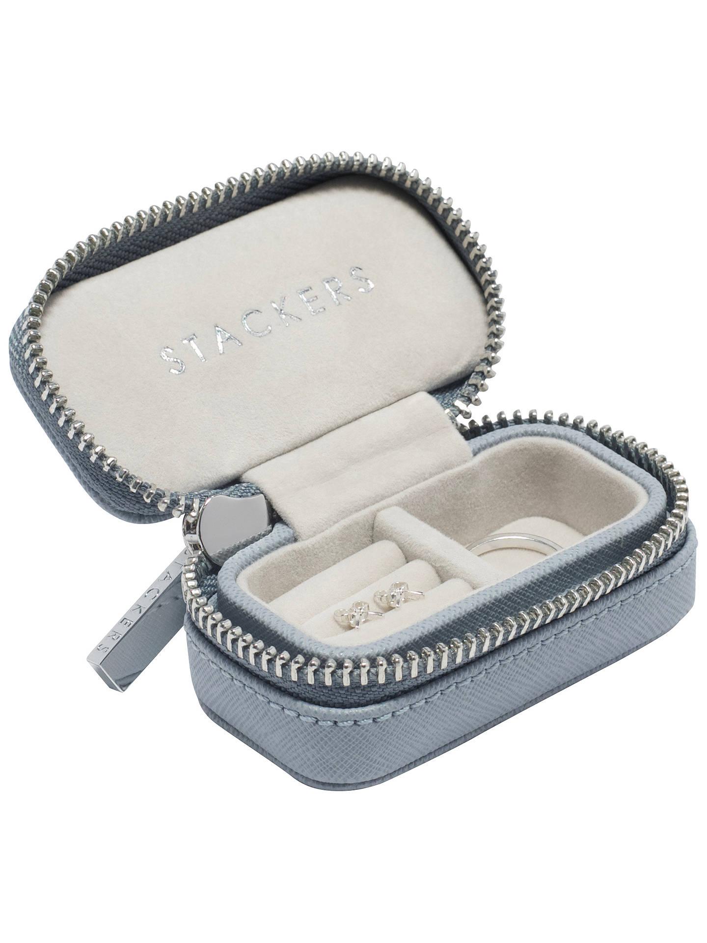 Stackers Petite Travel Jewellery Box Dusky Blue
