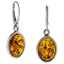 Buy Be-Jewelled Oval Amber Drop Earrings Online at johnlewis.com