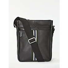 Buy John Lewis Lisbon Leather Reporter Bag, Black Online at johnlewis.com
