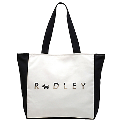 Radley All That Glitters Large Zip Top Tote, Natural