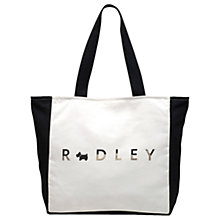 Buy Radley All That Glitters Large Zip Top Tote, Natural Online at johnlewis.com