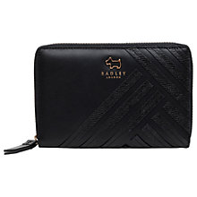 Buy Radley Harper Street Leather Medium Zip-Around Purse, Black Online at johnlewis.com