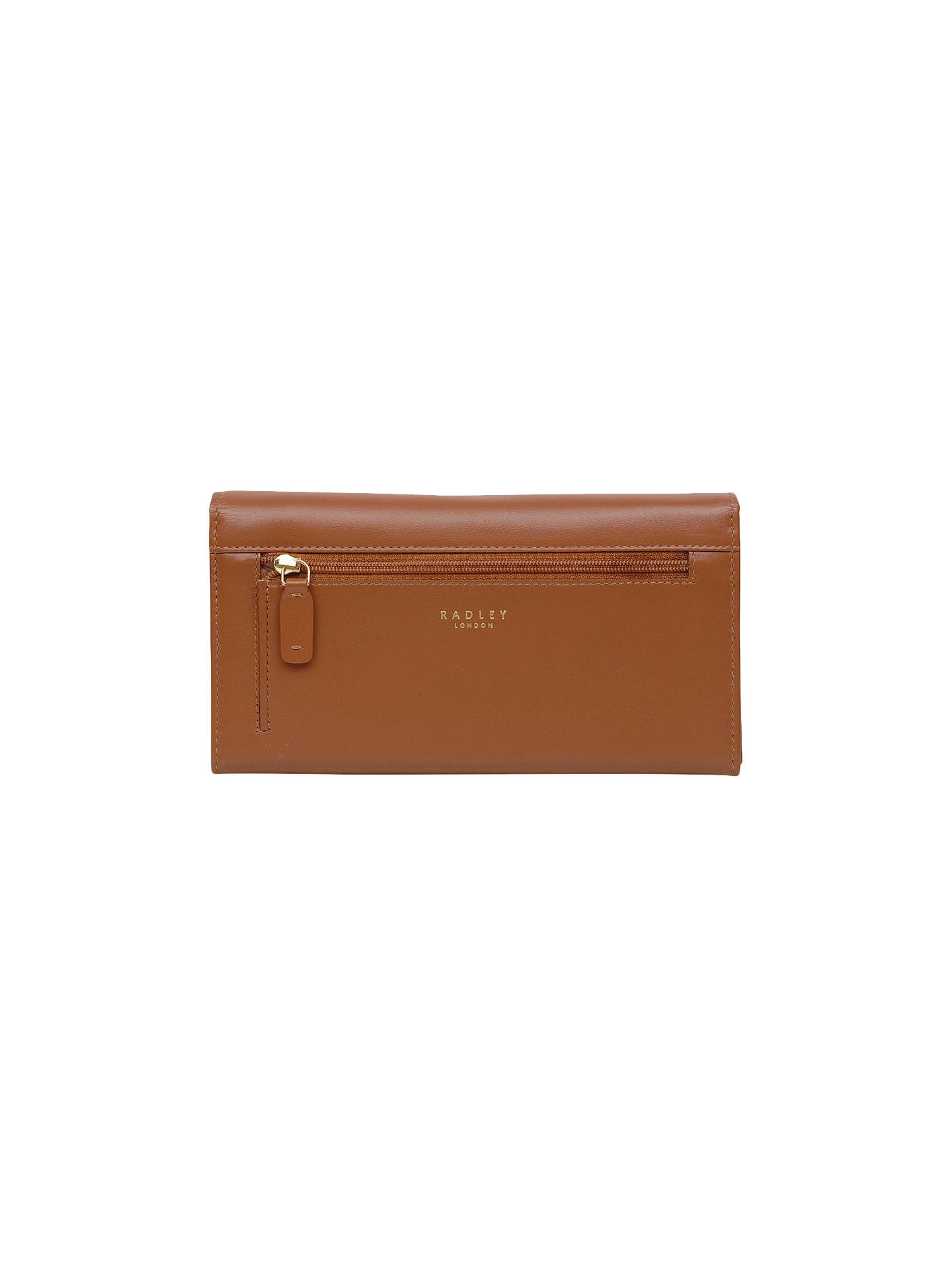 Buy Radley Heritage Dog Leather Outlined Large Matinee Purse, Tan Online at johnlewis.com