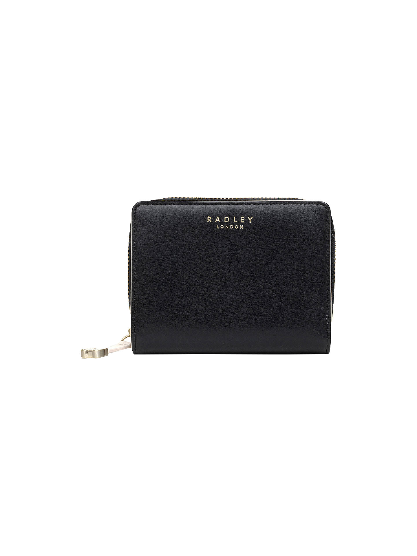 Buy Radley Arlington Street Medium Zip Around Purse, Black Online at johnlewis.com