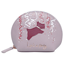 Buy Radley 'Life's A Party' Leather Small Ziptop Coin Purse, Pale Pink Online at johnlewis.com