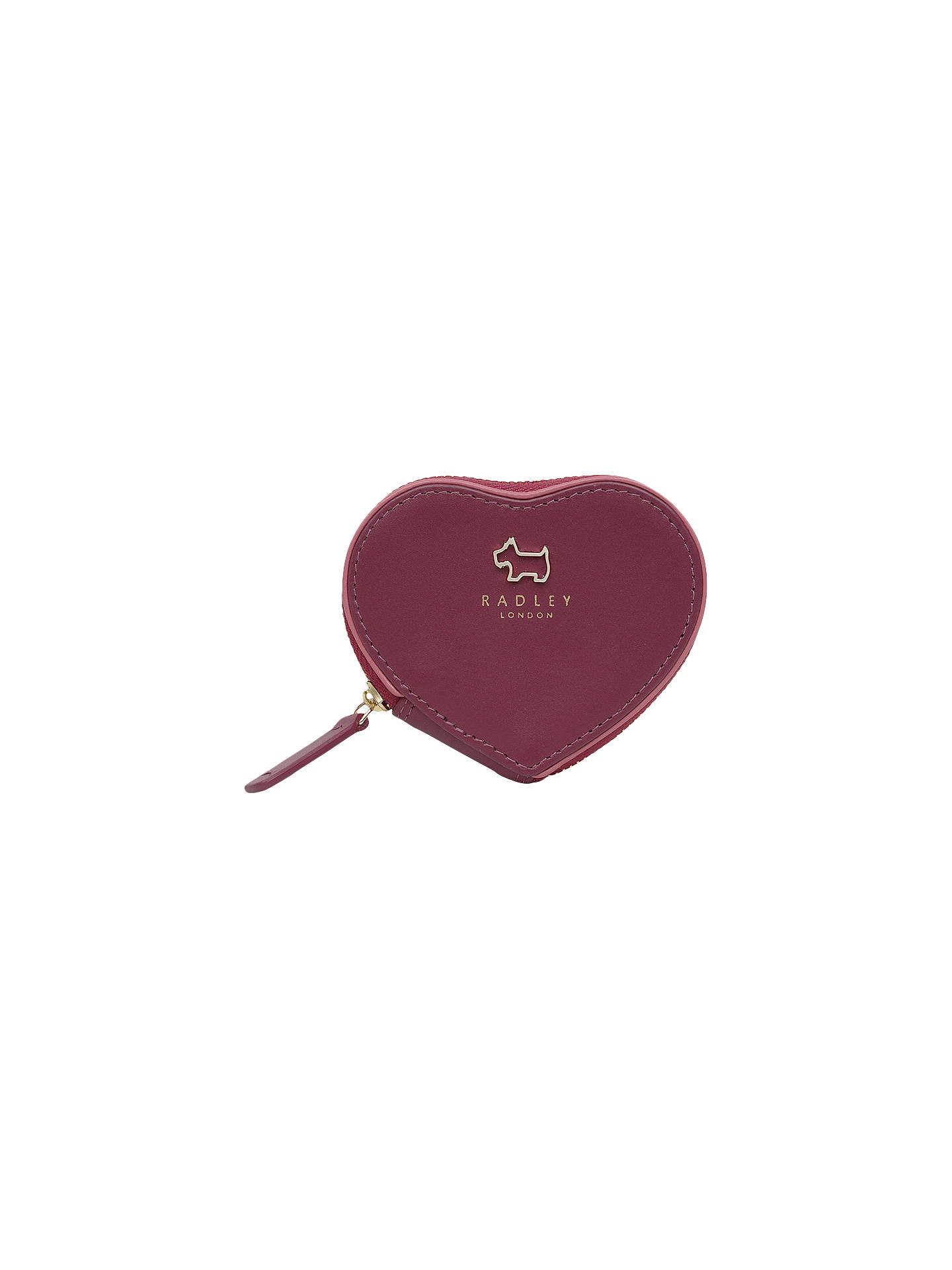 Buy Radley Oak Hill Woods Leather Small Coin Purse, Berry Online at johnlewis.com