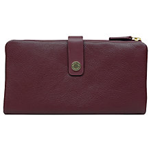 Buy Radley Larks Wood Leather Large Folded Matinee Purse, Red Dark Online at johnlewis.com