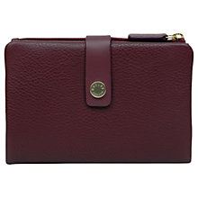 Buy Radley Larks Wood Leather Medium Folded Purse, Dark Red Online at johnlewis.com