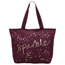 Buy Radley Sparkle Canvas Large Tote Bag, Berry Online at johnlewis.com