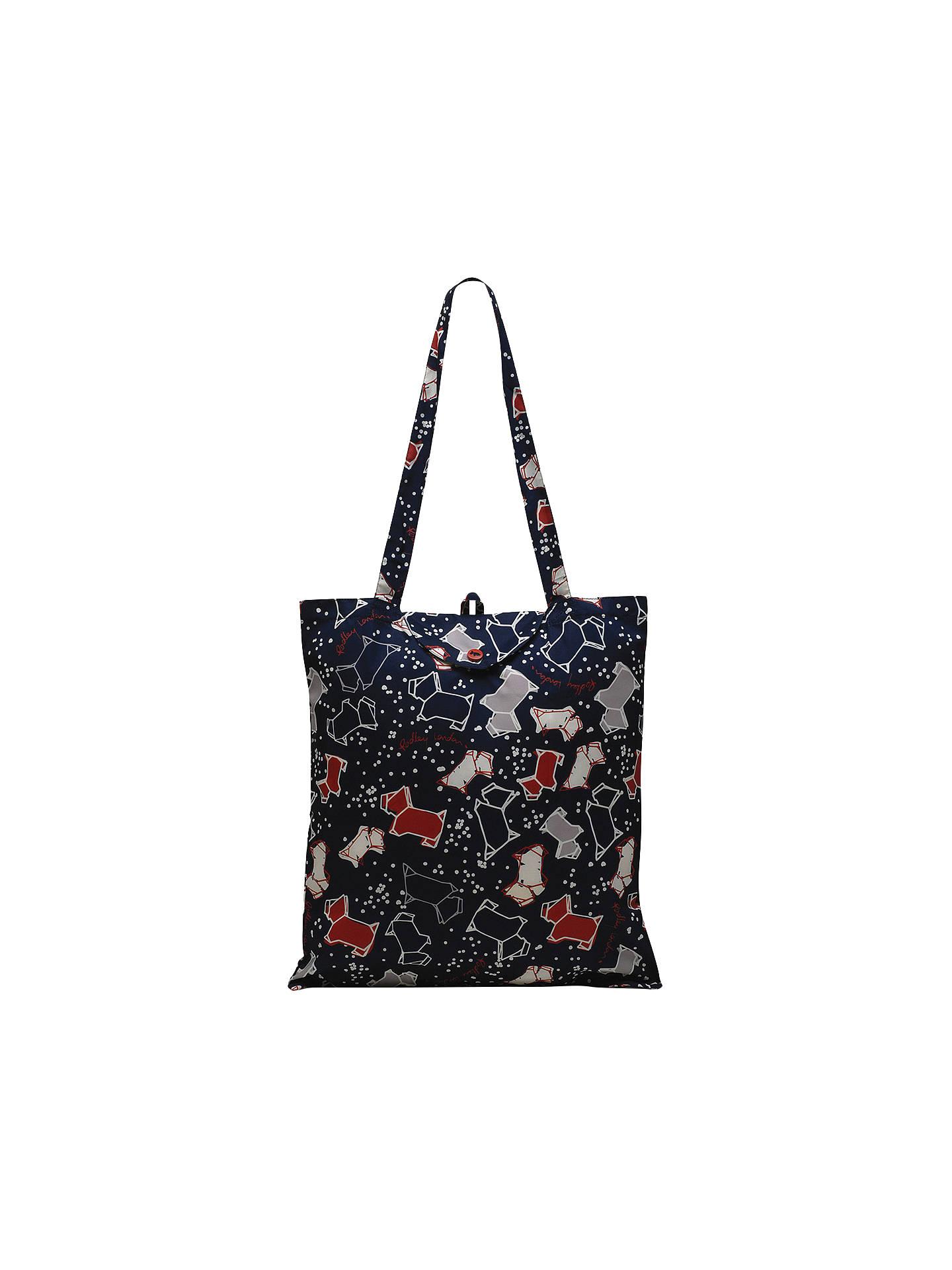 Radley Speckle Dog Foldaway Tote Bag Ink Online At Johnlewis