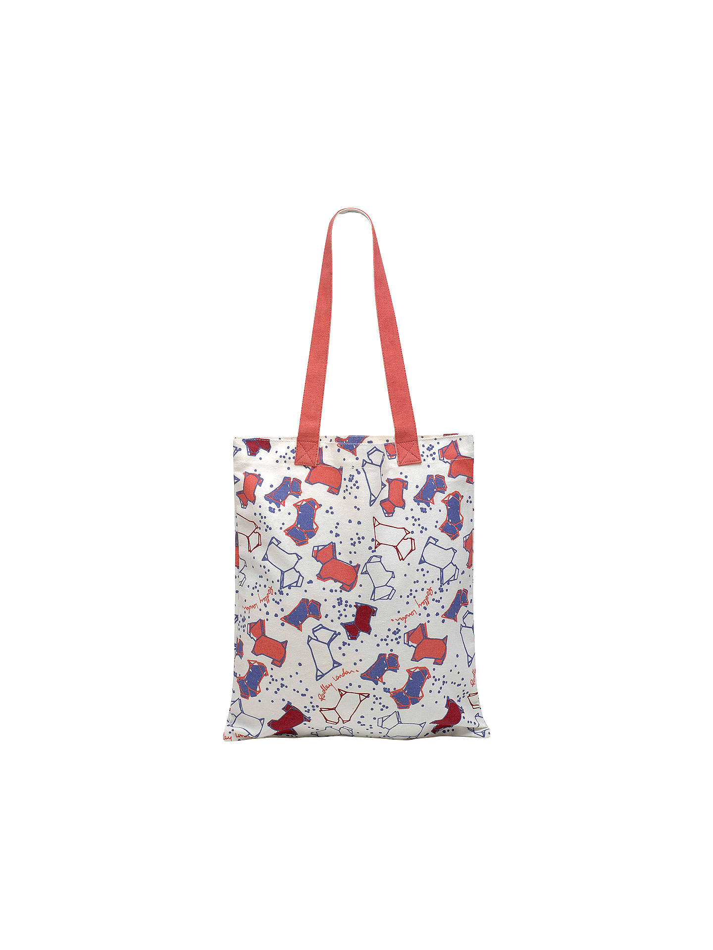 Radley Speckle Dog Canvas Medium Tote Bag, Natural at John