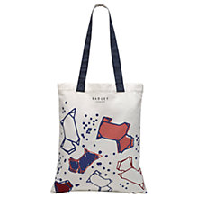 Buy Radley Speckle Dog Canvas Medium Tote Bag, Natural Online at johnlewis.com