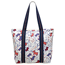 Buy Radley Speckle Dog Large Ziptop Tote Bag, Natural Online at johnlewis.com