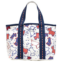 Buy Radley Speckle Dog Canvas Small Grab Bag, Natural Online at johnlewis.com