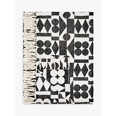 Patternity + John Lewis Ritual-Reflect Throw, Black / White