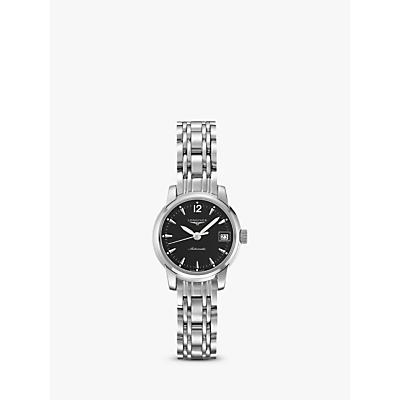 Longines L22634526 Women's Saint Imier Automatic Date Bracelet Strap Watch, Silver/Black
