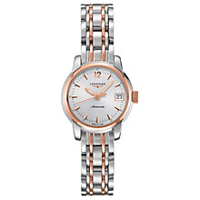 Buy Longines L22635727 Women's Saint Imier Automatic Date Bracelet Strap Watch, Silver/Rose Gold Online at johnlewis.com