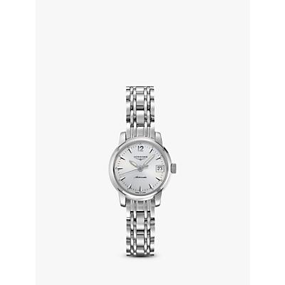 Longines L22634726 Women's Saint Imier Automatic Date Bracelet Strap Watch, Silver