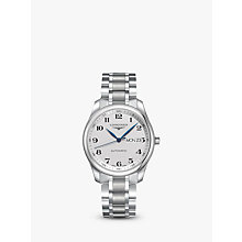 Buy Longines L27554786 Men's Master Collection Automatic Day Date Bracelet Strap Watch, Silver Online at johnlewis.com