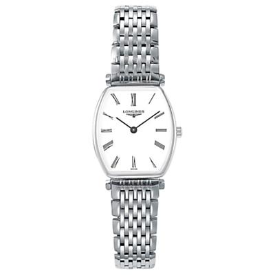 Longines L42054116 Women's La Grande Classique Bracelet Strap Watch, Silver/White