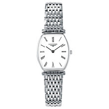 Buy Longines L42054116 Women's La Grande Classique Bracelet Strap Watch, Silver/White Online at johnlewis.com