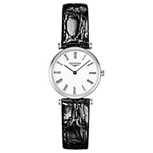 Buy Longines L42094112 Women's La Grande Classique Alligator Leather Strap Watch, Black/White Online at johnlewis.com