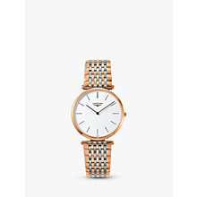 Buy Longines L47551927 Women's La Grande Classique Two Tone Bracelet Strap Watch, Rose Gold/Silver Online at johnlewis.com