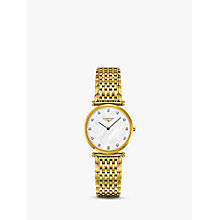 Buy Longines L45122878 Unisex La Grande Classique Diamond Bracelet Strap Watch, Gold/Mother of Pearl Online at johnlewis.com