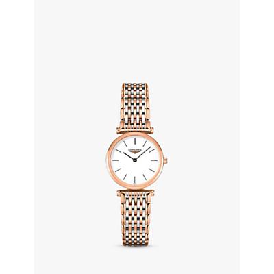 Longines L42091927 Women's La Grande Classique Two Tone Bracelet Strap Watch, Rose Gold/Silver