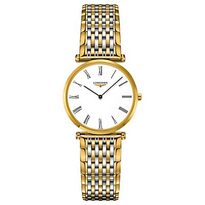 Longines L45122117 Women's La Grande Classique Two Tone Bracelet Strap Watch, Gold/Silver