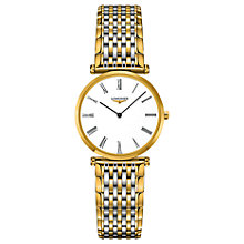 Buy Longines L45122117 Women's La Grande Classique Two Tone Bracelet Strap Watch, Gold/Silver Online at johnlewis.com